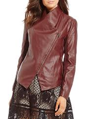 moto womens bb dakota gabrielle open front faux leather jacket fig gift to live