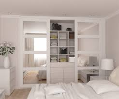 image mirrored closet. Sliding Closet Doors For Bedrooms : Panel Interior Mirrored Wardrobe Howden Joinery Image
