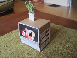doll furniture recycled materials. Homemade Doll Television Set From Recycled Materials Furniture O