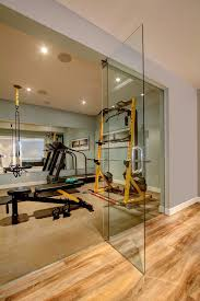 at home gym decorating ideas home gym contemporary with glass wall