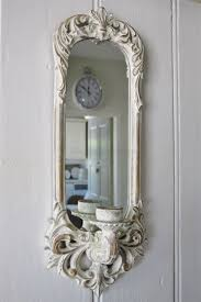 mirror candle wall sconce