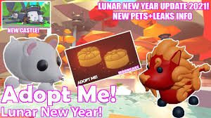 NEW ADOPT ME LUNAR NEW YEAR CONFIRMED 2021! CHINESE NEW YEAR NEW PETS  LEAKS+CASTLE-ROBLOX - YouTube