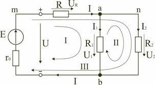 Реферат Электрические цепи постоянного тока и методы их расчета  а потребители электрической энергии регулировочный реостат r электрические лампочки el1и el2заменены активными сопротивлениями r r1и r2
