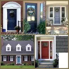 most appealing front door color red brick house black shutters but what color door front door paint color meanings front door colors for brick house