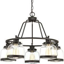progress lighting p400058 020 judson 5 light candle chandelier antique bronze