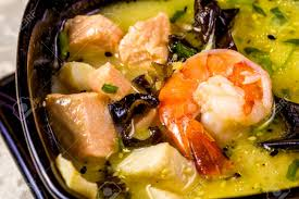 Asian Seafood Soup With Spics And Herbs ...