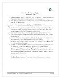 International Promissory Note Template Unsecured Ry Fresh
