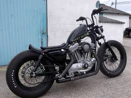 crazy orange style harley davidson sportster bobber jones