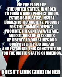 Ensure Domestic Tranquility Somehow It Is Just Hard To Read The Us Constitution With Hilary