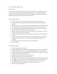 Technical Support Engineer Job Description Resume It Cover Letters