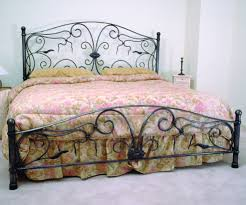 Designer Wrought Iron Beds Forged Round Bar Cal King Bed Design Iron Headboard