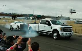 Shelby 1000 F-350 dually smokes its tires with massive torque ...