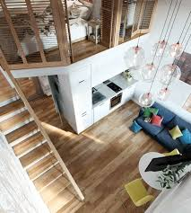 Studio Loft Apartment Small Studio Apartment In Moscow With Loft Bedroom Idesignarch