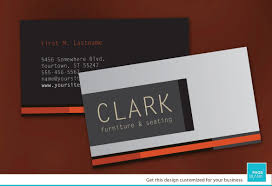 Business Card Template For Furniture Business Order Custom Business