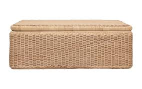 albany woven rectangluar chest and tray