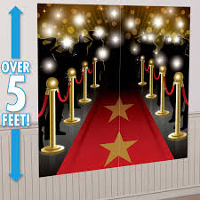 hollywood star red carpet party wall decorations scene setter decorating set 13051422318