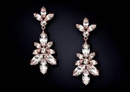 chandelier earrings black luxury francine rose gold leaf crystal chandelier earrings