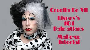 disney villains cruella de vil 101 dalmatians makeup tutorial hd you drag queen makeup make up