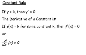 Derivative Rules Calculus The Chain Rule Constant Rule Science