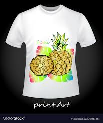 T Shirt With Pineapple Design Bright T Shirt With Pineapple