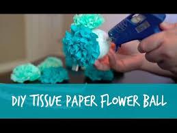 Make Tissue Paper Flower Balls Diy Tissue Paper Flower Pomander Ball Tutorial Youtube