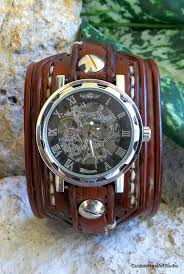 17 best ideas about cuff watches steampunk watch mens leather watch cuff leather wrist watch men s leather cuff watch bracelet