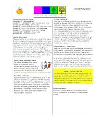 Newsletter Format Examples Newsletter For Preschool Format Examples Parents Template