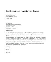 Accept Offer Letter Reply Job Offer Template Acceptance Letters Letter Thank You Email Format