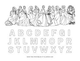 Learn the alphabet and words while coloring with our printable alphabet coloring pages. Free Printable Disney Alphabet Coloring Pages Tulamama