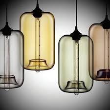 loft industrial multi color glass pendant light