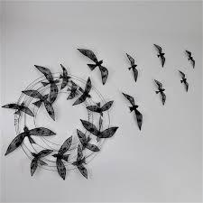 birds flight metal wall art sculpture 3