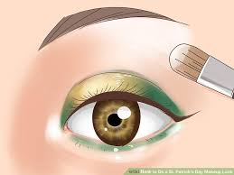 image led do a st patrick s day makeup look step 7