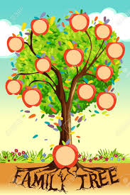 Family Tree Picture Template A Vector Illustration Of Family Tree Template