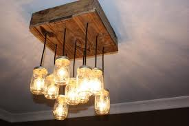 pallet mason jars chandelier