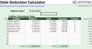 debt snowball calculator free free debt reduction calculator how to get out of debt using the