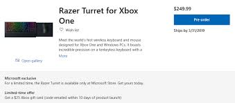 Razers First Keyboard And Mouse For Xbox One Go Up For Pre Order On