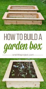 how to make a box garden. Modren How How To Build A Garden Box  This Step By Photo Tutorial Shows Exactly  How Throughout To Make A Box Garden T