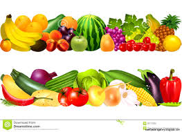 fruit and vegetables border. Plain Fruit With Fruit And Vegetables Border G