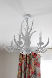 rosie s white antler chandelier com with regard to plan 5