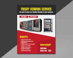 Vending Machine Brochure Extraordinary Entry 48 By Iqbalsujan48 For Design A Flyer For A Vending Machine