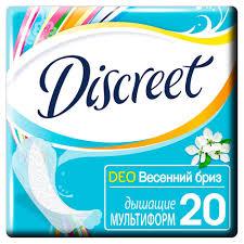 <b>Прокладки ежедневные Discreet</b> Deo Spring Breeze Multiform, <b>20 шт</b>