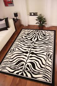 zebra print rug awesome great catchy runner in pertaining to 7