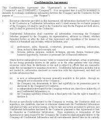 Confidentiality And Nondisclosure Agreement General Template