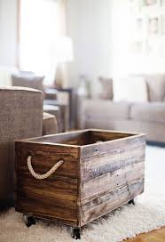 wood crate furniture diy. Pallet Wood Crate Organizer Furniture Diy