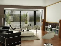 black brown white living room projector screen well selected color schemes