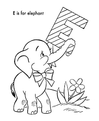 Small Picture ABC Alphabet Coloring Sheets ABC Elephant Animal coloring page