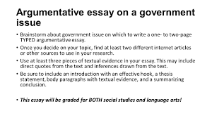 quickwrite choose one explain the difference between a democracy argumentative essay on a government issue brainstorm about government issue on which to write a one