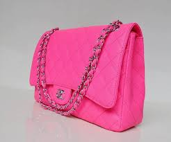 hot pink chanel bags. chanel hot pink quilted classic jumbo double flap bag (silver-tone and gold- bags c
