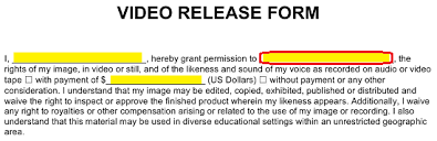 Free Video Release Form Word Pdf Eforms Free Fillable Forms