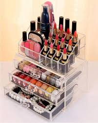 acrylic 3 drawers 12 tzoid lipstick makeup display stand cosmetic organizer holder case jewelry box storage